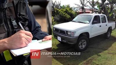 A PUNTA DE ARMA DE FUEGO ROBARON UN VEHÍCULO EN NATALIO