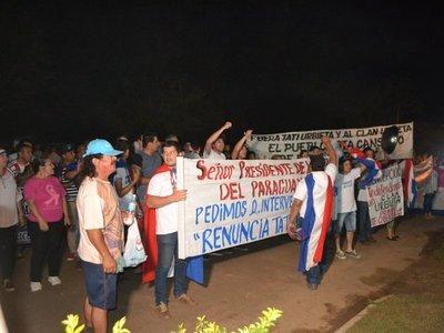 Octavo día de movilizaciones en Concepciónpidiendo renuncia de intendente