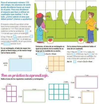 Área de rectángulos y cuadrados