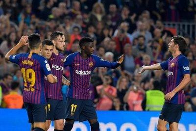 El Barca, sin Messi, busca el liderato