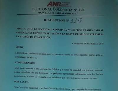 Seccional Nº 330 se manifiesta a favor de indignación ciudadana