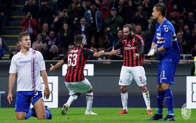 El Milan remonta ante la Sampdoria de Barreto