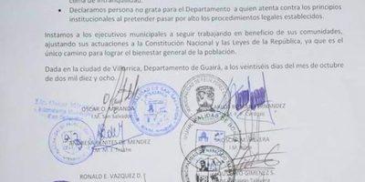 Aigua emitió comunicado de repudio contra diputado Fernando Ortellado