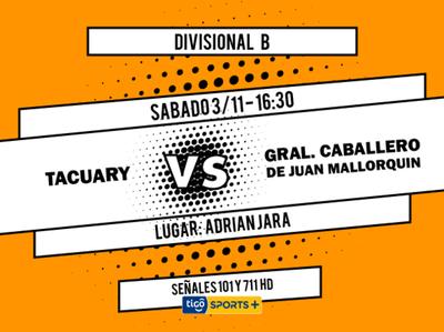 Tacuary versus General Caballero JLM, por Tigo Sports