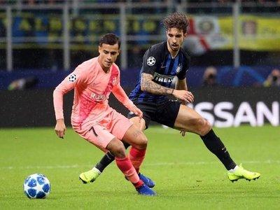 El Barcelona empata sin Messi en Milán y se mete en octavos
