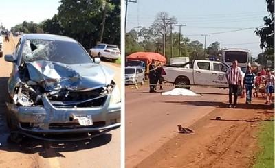 Sexagenario muere y su hija queda herida en accidente