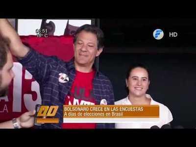 A días de las elecciones en Brasil, las encuestas dan ganador a Bolsonaro