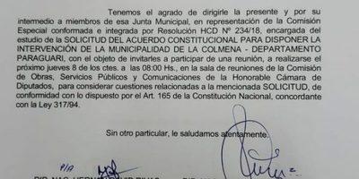 Comisión Especial de Diputados convoca a concejales de La Colmena