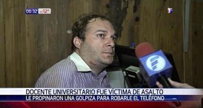 Violento asalto a docente en San Lorenzo