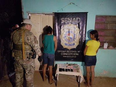 Senad detiene a dos proveedoras de drogas en Concepción