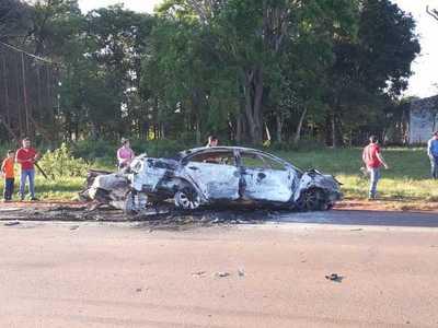 Un hombre muere calcinado en triple choque en Coronel Oviedo – Prensa 5