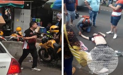 Fue filmado, fotografiado y luego muere arrollado