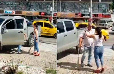 Colombia: Descubrió a su marido con la amante y quiso destruirle la camioneta con un bate de béisbol