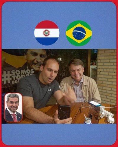 Marito conversó con Bolsonaro a través del Facetime