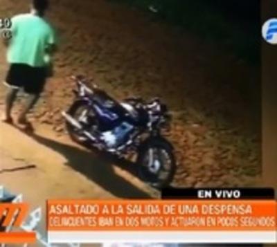 Alto Paraná: Joven es asaltado fuera de una despensa