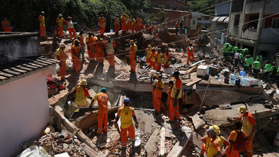 Sube a 15 el número de muertos por deslizamiento de tierra en Río de Janeiro