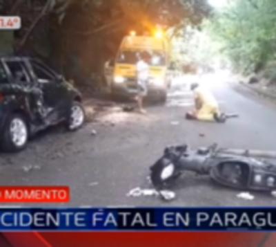 Accidente fatal en la ruta que une Paraguarí con Piribebuy