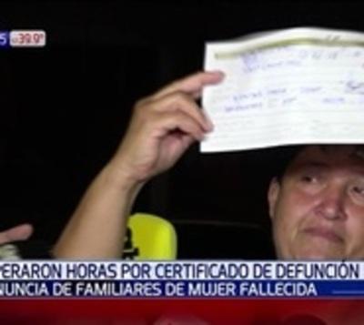 Pagaron G 200.000 por certificado de defunción por huelga