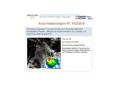 Anuncian tormenta en varios puntos de país