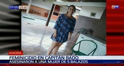 Asesinan a balazos a una mujer en Capitán Bado