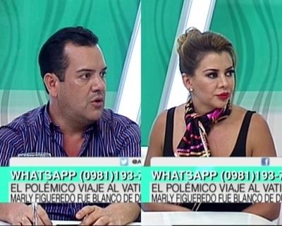 Marly Figueredo y su esposo respondieron inquietudes sobre su visita al vaticano