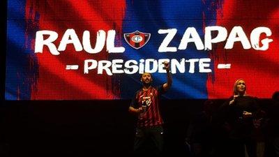 Raúl Zapag presentó lista oficial para la Asamblea