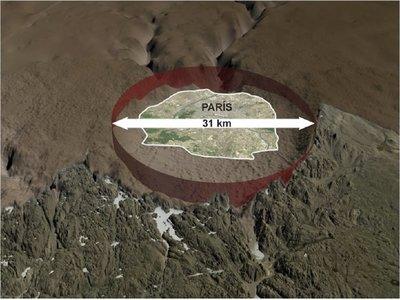 Descubren en Groenlandia cráter gigante causado por meteorito