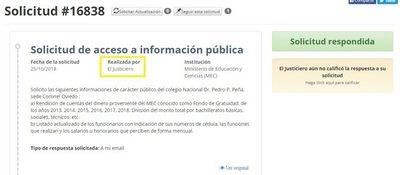 """""""El justiciero"""" logró acceder a información pública"""