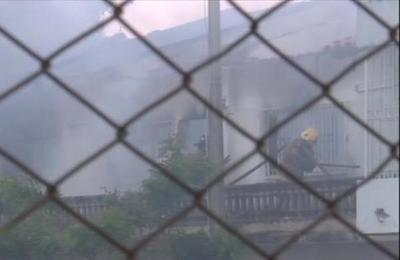 Controlan incendio sobre Avenida Perón