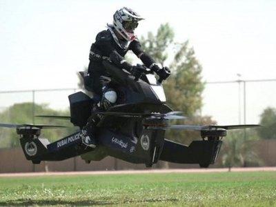 Combaten al crimen con motos voladoras
