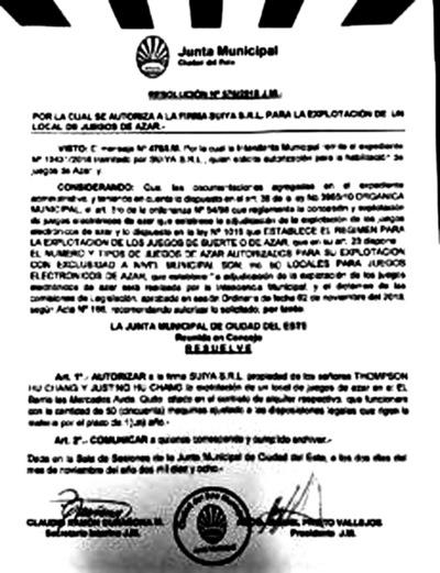 Junta Municipal de CDE concede permiso a una fábrica de hielo para explotar casino