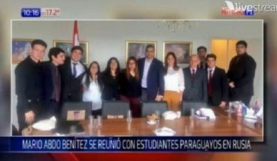 Estudiantes paraguayos en Rusia hacen dos pedidos puntuales a Marito