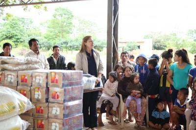 Entregan más de 2.500 kilos de alimentos a comedor comunitario del pueblo Aché