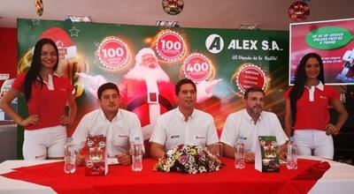 Promo de Alex S.A premiará a más de 500 clientes por fin de año
