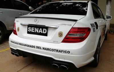Senad utiliza lujoso vehículo de detenido por narcotráfico