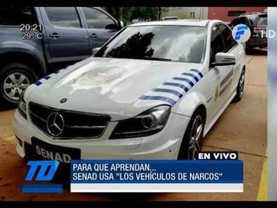 La Senad ya utiliza vehículos lujosos incautados de narcos