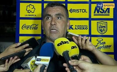 Pedro Sarabia, tras el empate de Luqueño