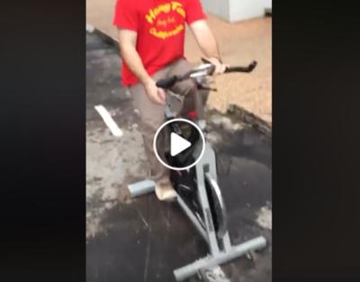 HOY / Usuarios 'habilitan' bicisenda céntrica con sus bicis estáticas
