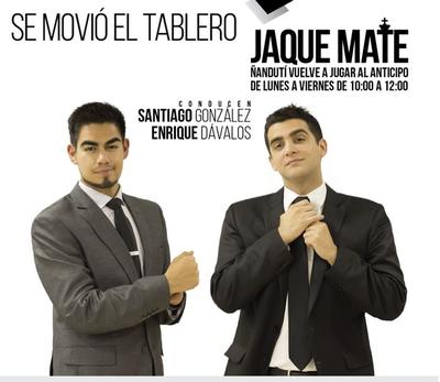 Jaque Mate con la conducción de Santiago González y Enrique Dávalos