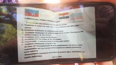 HOY / EPP amenaza con fusilar a los que incumplan reglas de panfletos