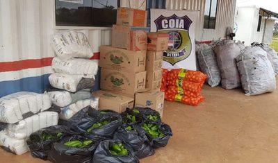 Aduanas decomisa gran cantidad de productos de contrabando en zona fronteriza