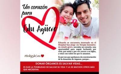 Buscan donante de corazón para joven padre
