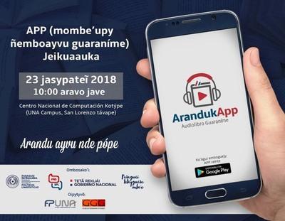 Aplicación móvil de audiolibros en guaraní será lanzada este viernes