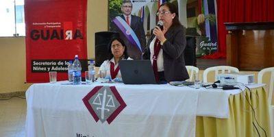 Jornada sobre Derechos de la Niñez y la Adolescencia se realizó en la Gobernación de Guairá.