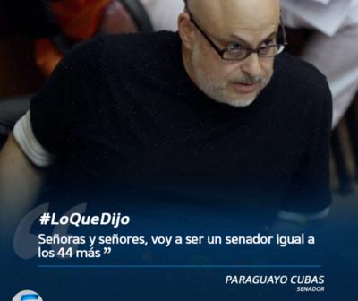 """Paraguayo Cubas: """"Voy a ser un senador igual a los demás"""""""