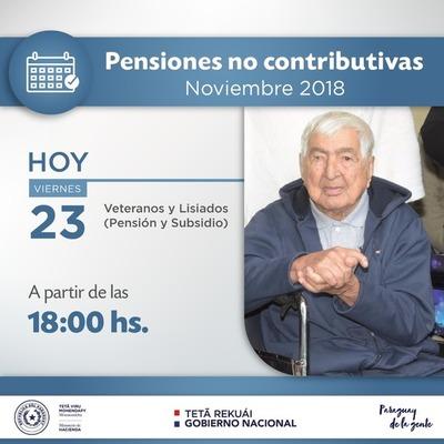 Veteranos percibirán sus pensiones y subsidios esta tarde