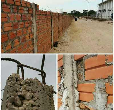 Julio Fischer se embolsó 120 millones de guaraníes por una muralla con pésima terminación y exagerada sobrefacturación
