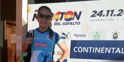 Carmen Rivera con buena participación en la Media Maratón de Encarnación