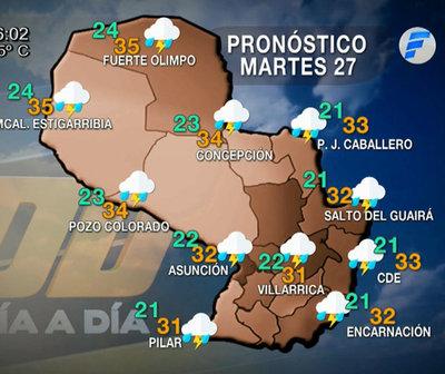 Anuncian lluvias y tormentas eléctricas para hoy