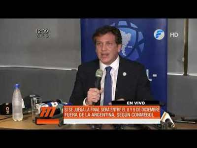 La final de la Libertadores se jugará fuera de Argentina